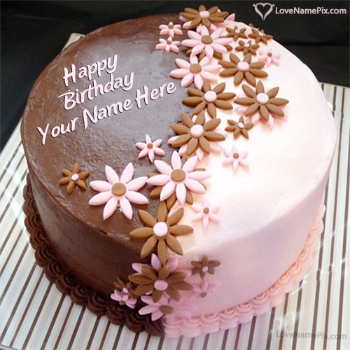 Birthday Cake With Name And Photo Edit Option Online