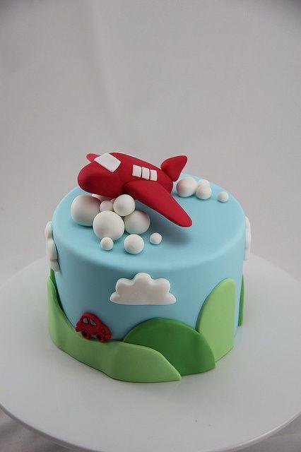 Plane Birthday Cake For A Little Boy Avi Pinterest