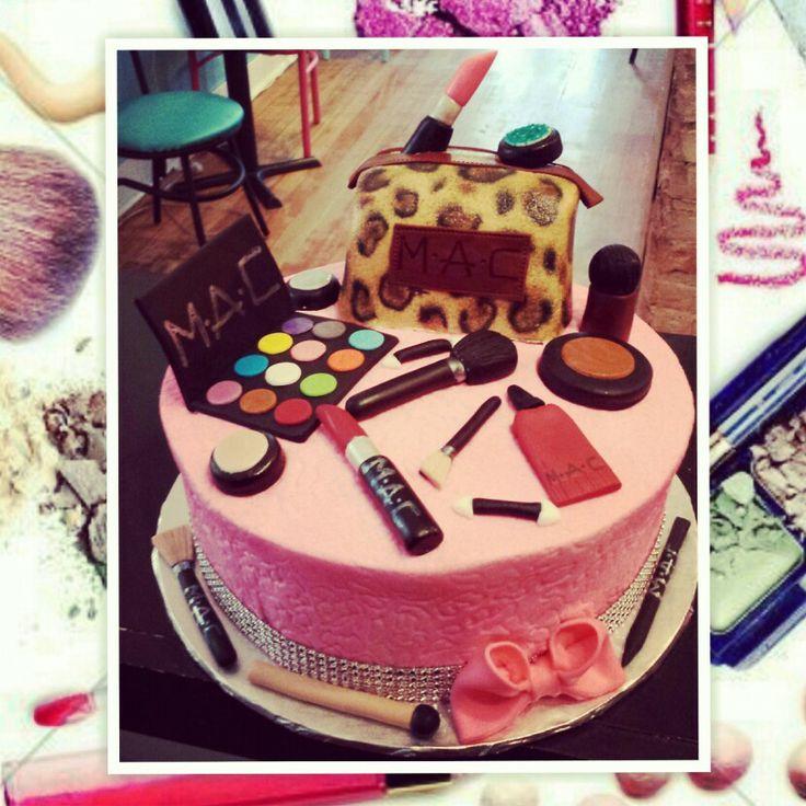 Remarkable Happy Birthday Makeup Cake Saubhaya Makeup Personalised Birthday Cards Sponlily Jamesorg