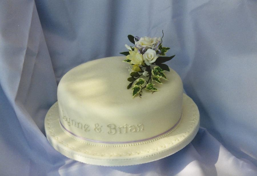 One Layer Flower Cake Designs Flowers Healthy