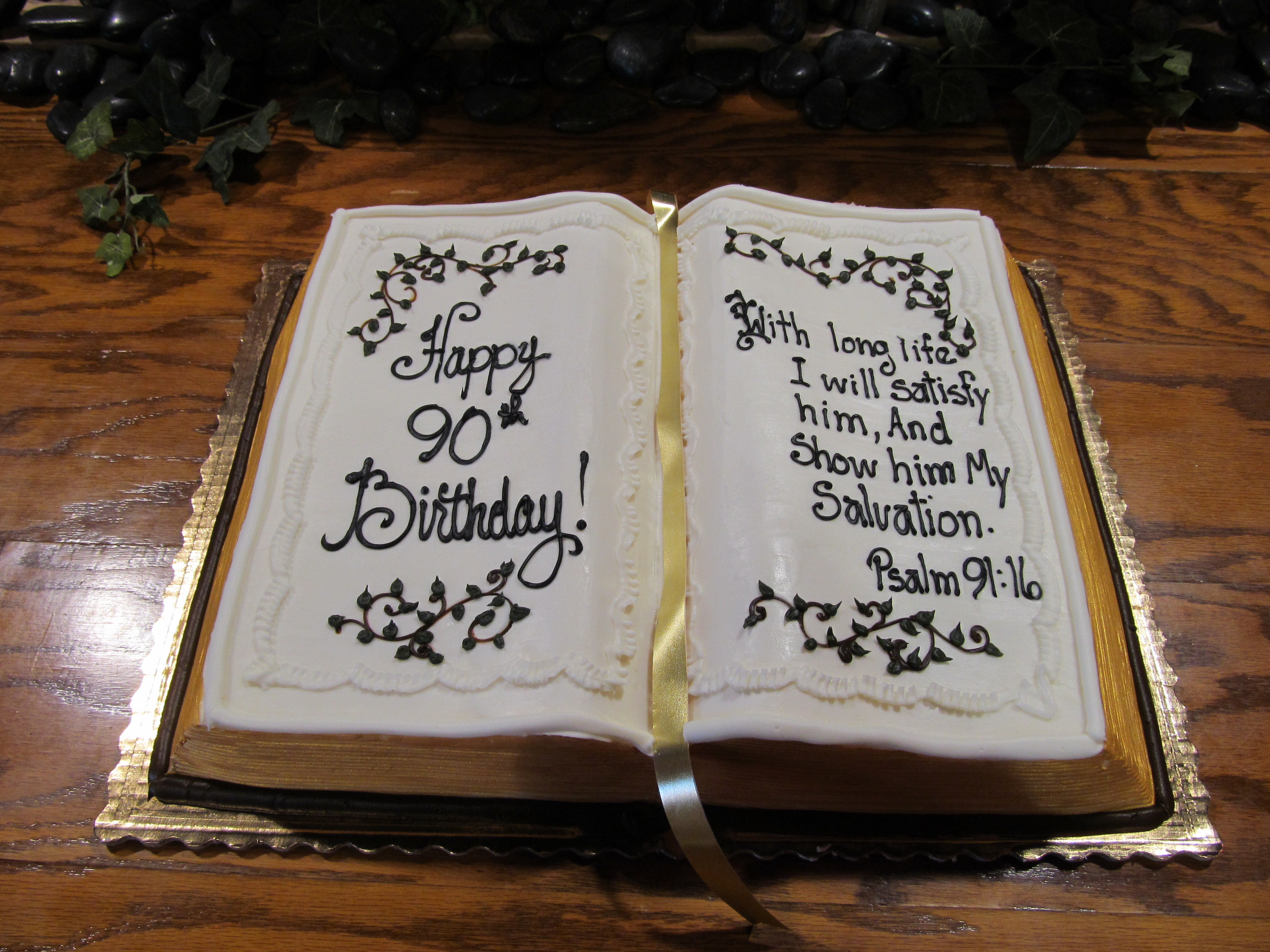 Vintage Leather Look Jeremiah Verse Bible Book Cover Large: Bible Birthday Cakes