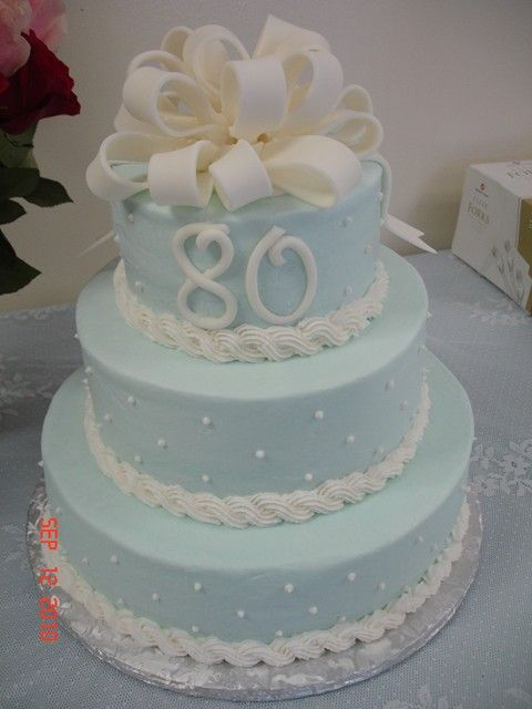 80Th Birthday Cakes