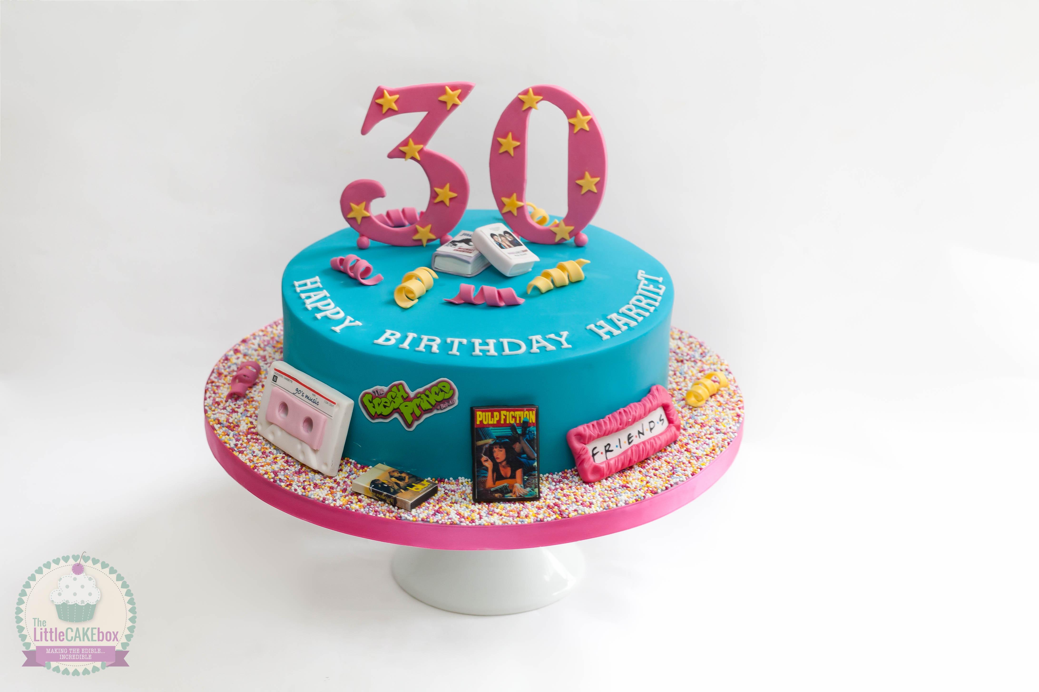 MTV 30th Birthday Cake 90s Party T Birthday 30th