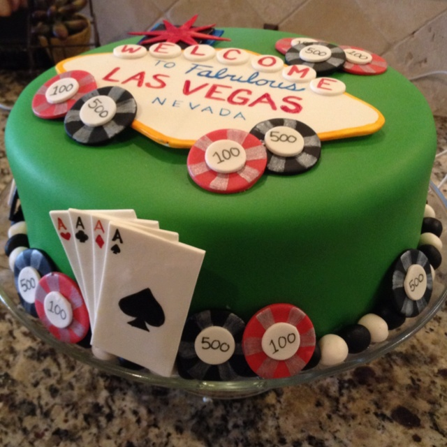 Vegas Birthday Cakes