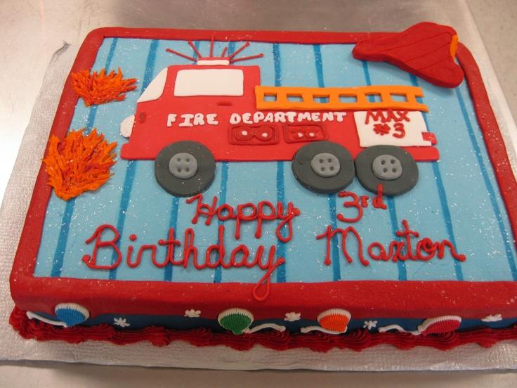 Firetruck Birthday Cakes