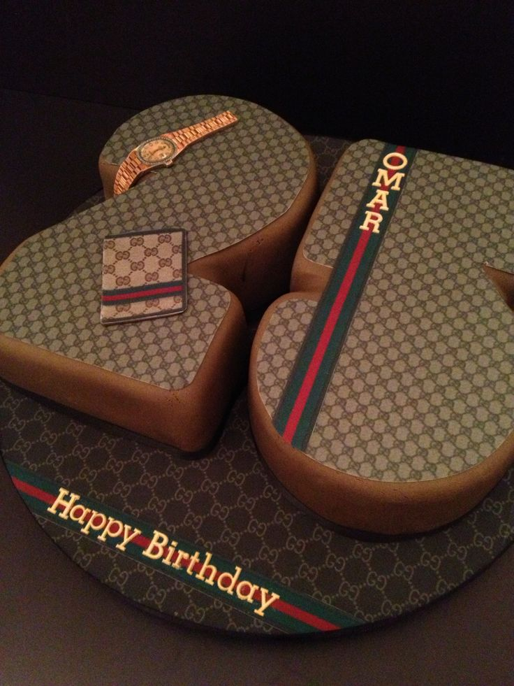 Gucci Birthday Cakes