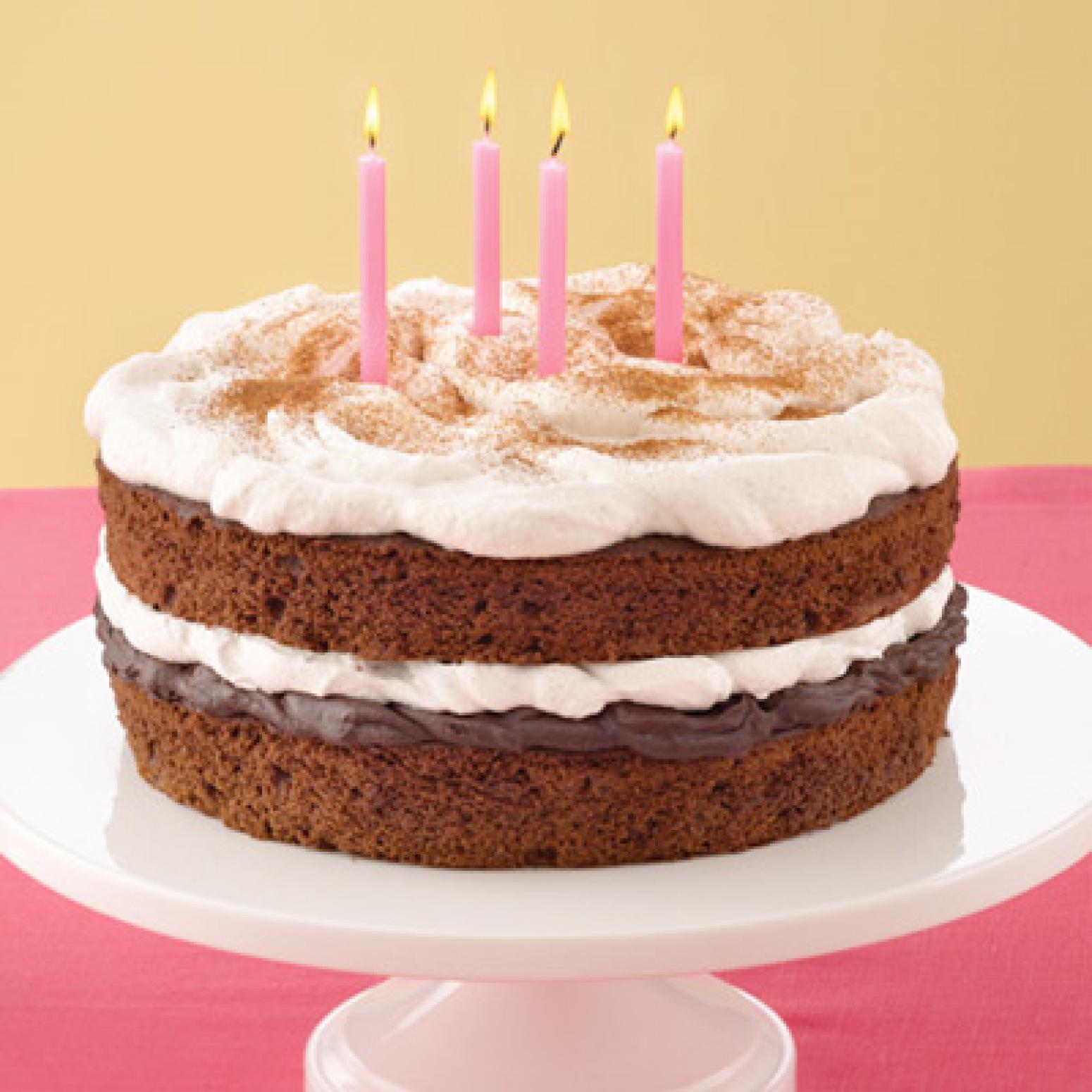Fudge Birthday Cakes