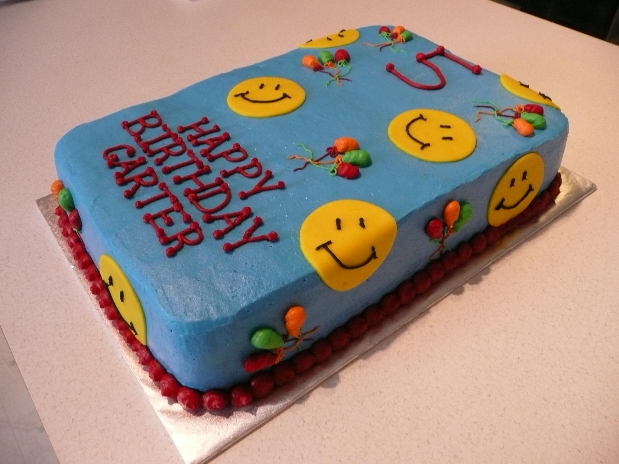 Торт со смайликами фото