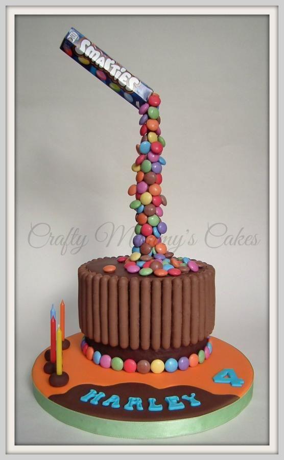 Smarties Birthday Cakes