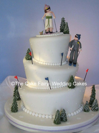 skiers wedding cake toppers skiing wedding cakes 20178