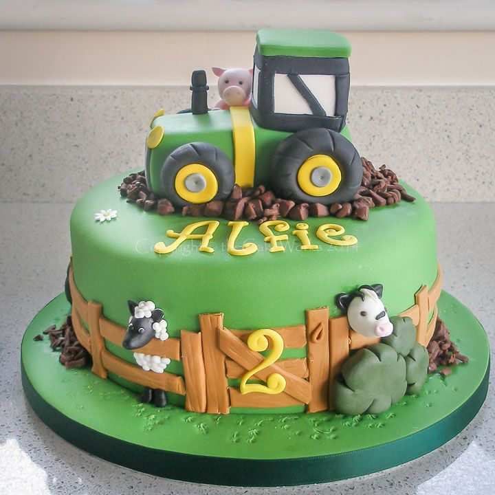 83 Birthday Cake With Tractor