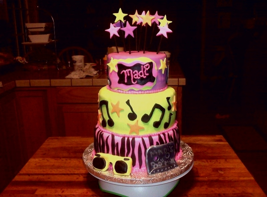 13Th Birthday Cake 80s Theme CakeCentral