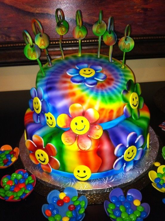 Psychedelic Birthday Cakes