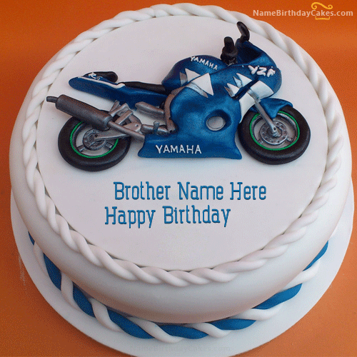 Happy Birthday Brother Images Of Cake With Name And Photo
