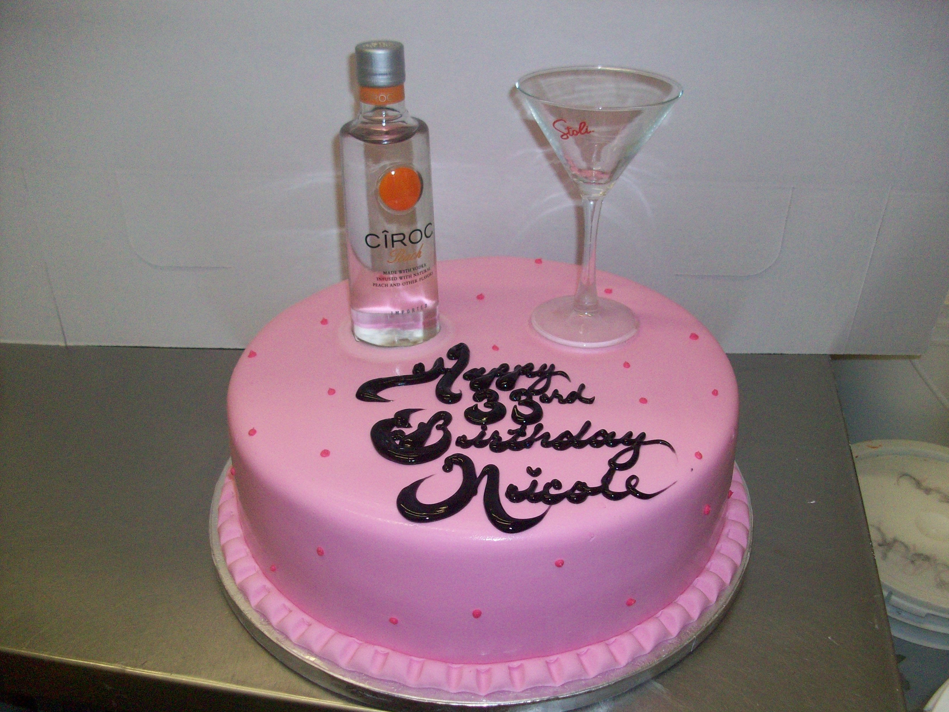 Ciroc Bottle Birthday Cakes Best Birthday Cake 2018