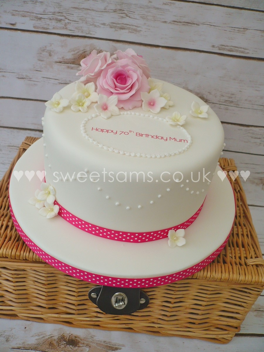 Birthday Cakes 70th Ladies Easy Cake Decorated