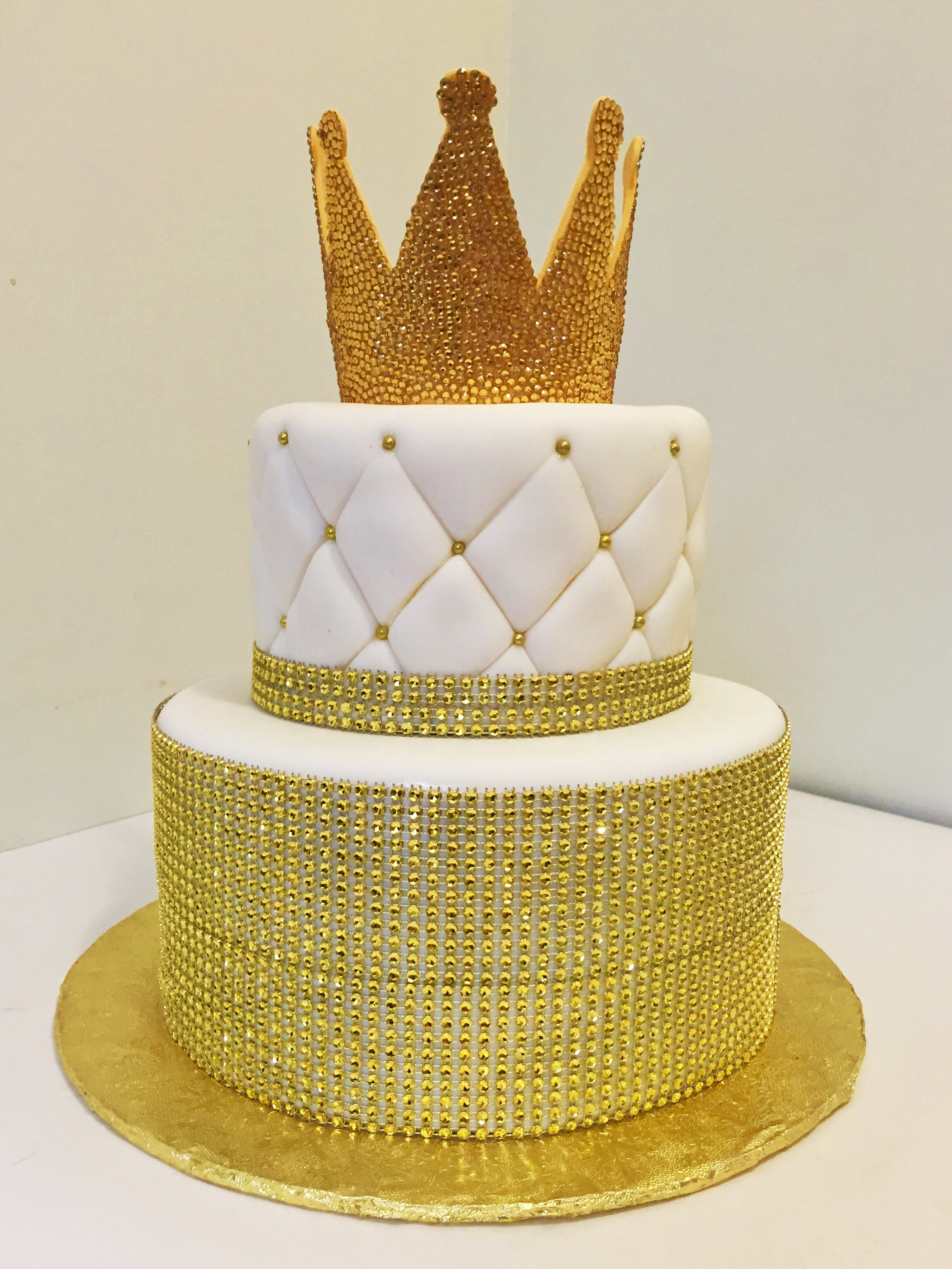 Golden Birthday Cakes