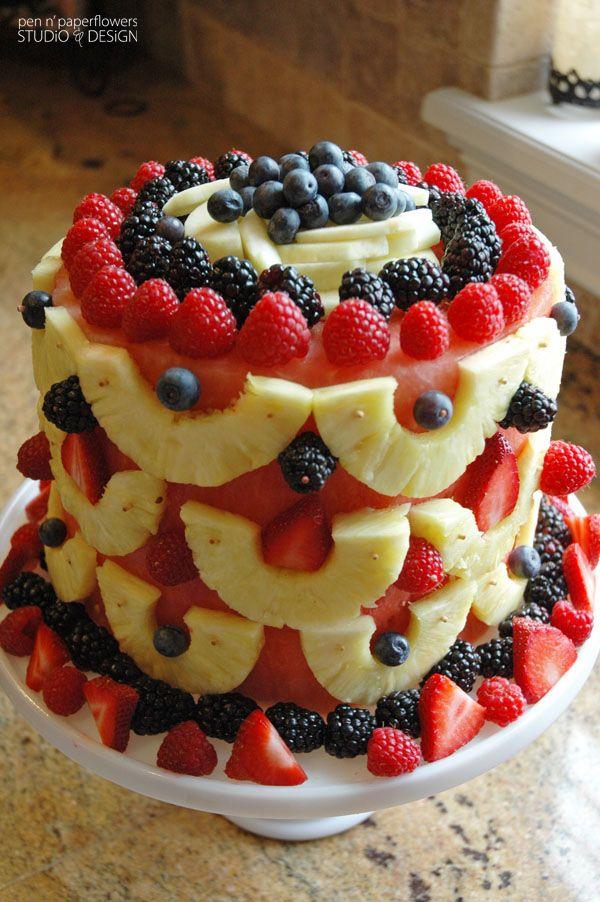 Salad Birthday Cakes