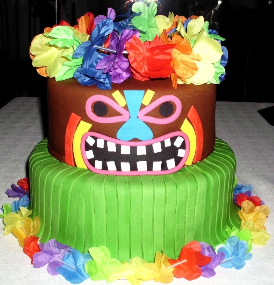Tiki Birthday Cakes