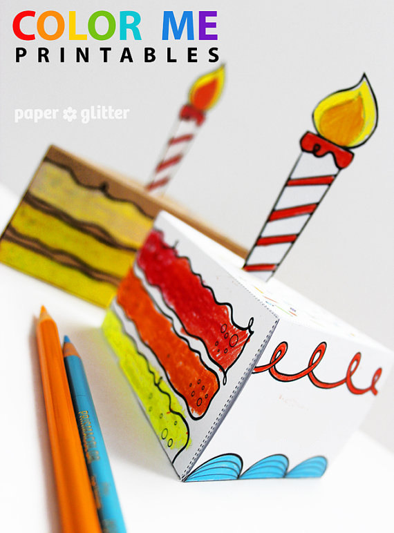 graphic about Printable Cake Paper known as Paper Birthday Cakes