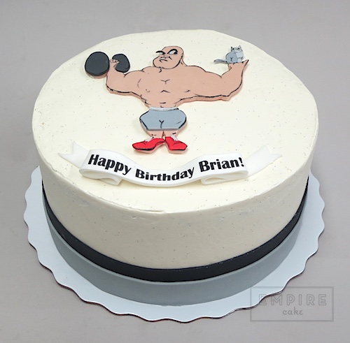 Bodybuilding Birthday Cakes