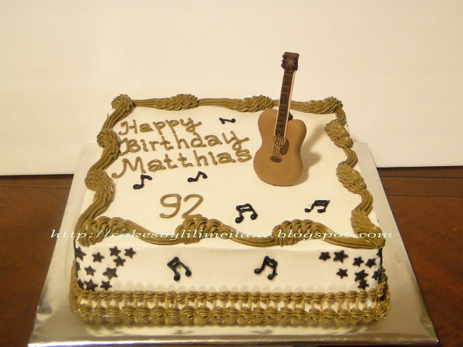 Guitar Wedding Cakes