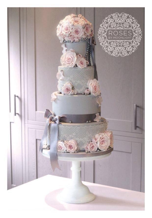 17 Best Ideas About Grey Wedding Cakes On Pinterest