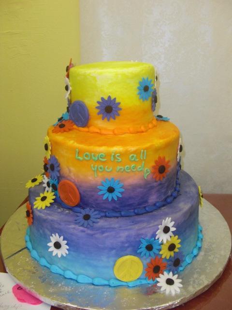 Hippie Wedding Cakes