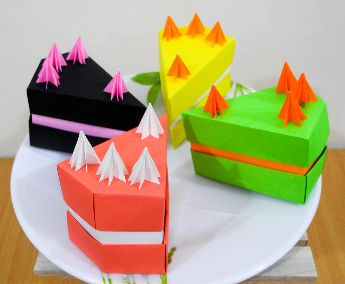 Origami Birthday Cakes