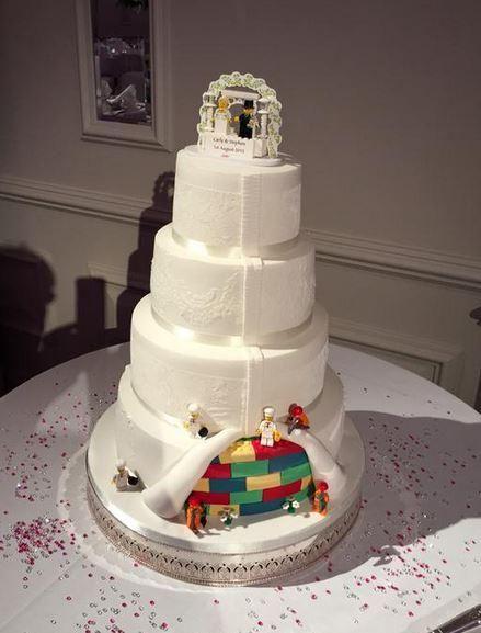 lego wedding cake