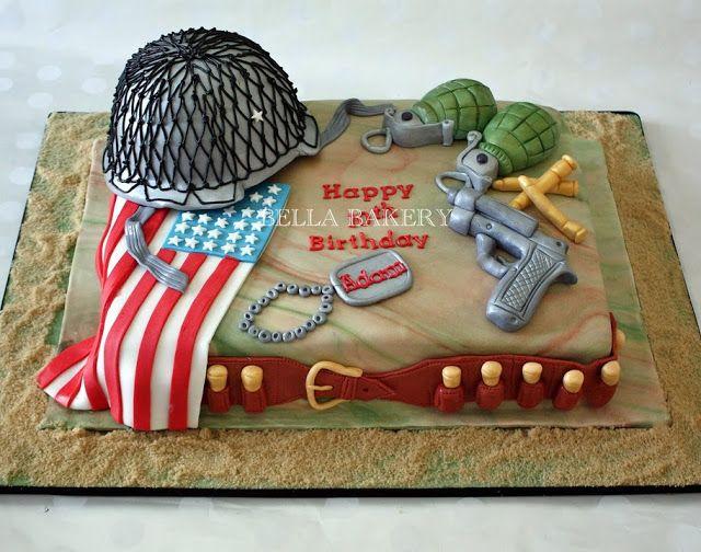 Soldier Birthday Cakes