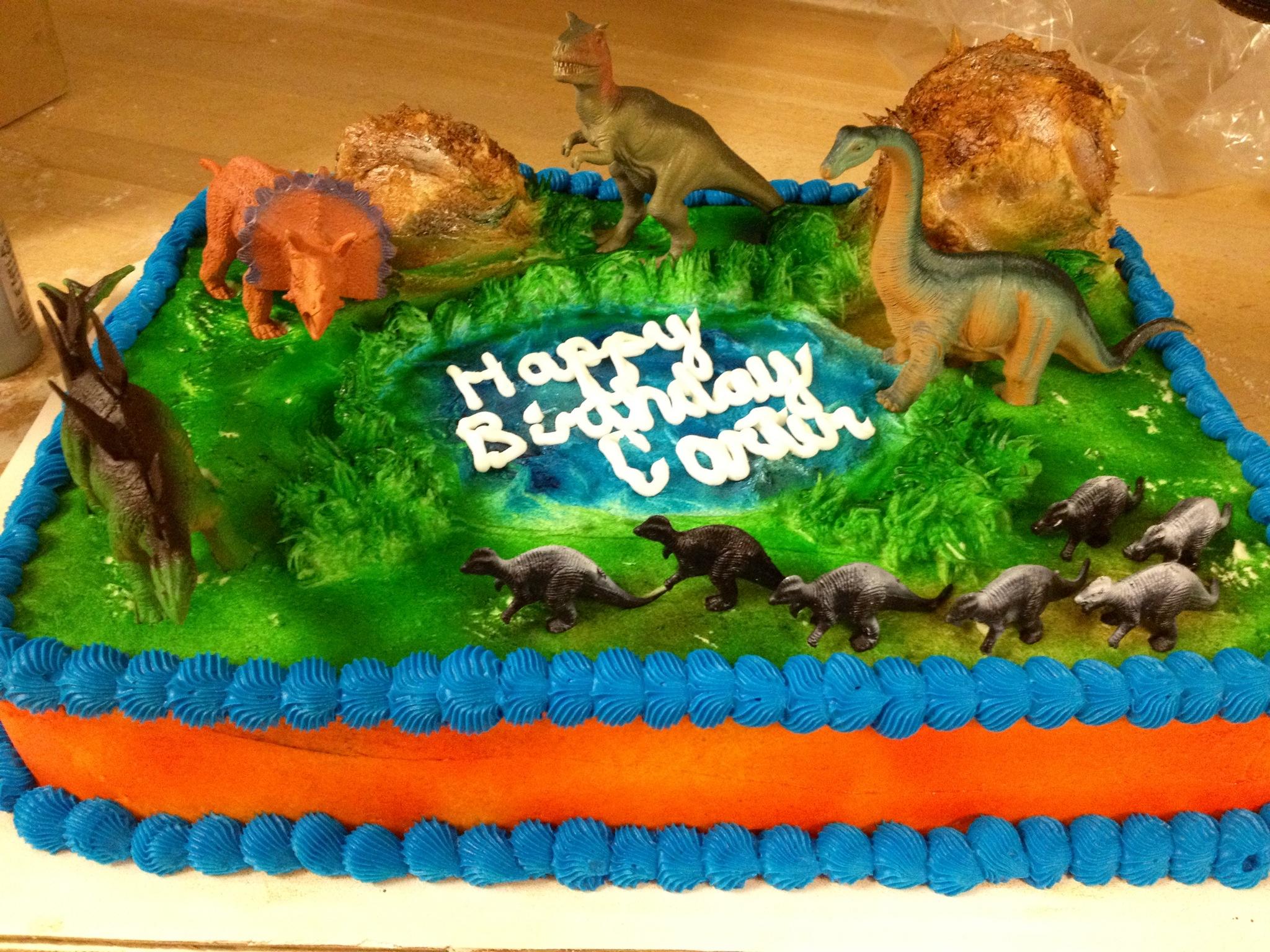 Triceratops Birthday Cakes