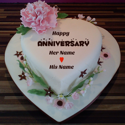 Anniversary Cake Images With Name Editor Free Download