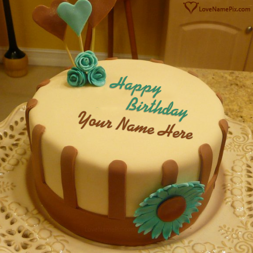 Happy Birthday Cakes With Name Editor Online