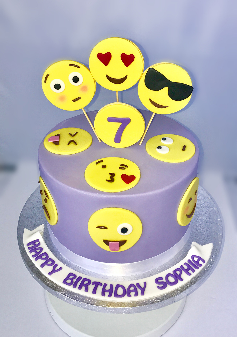 Emoji Custom Birthday Cake Chefnessbakery