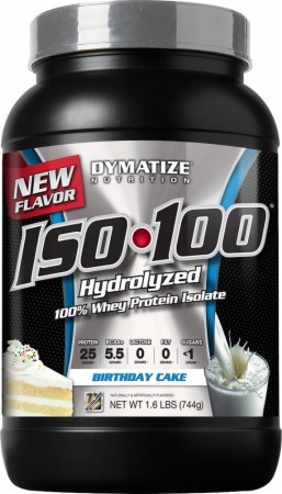 Dymatize ISO 100 Review Birthday Cake SixPackSmackdown