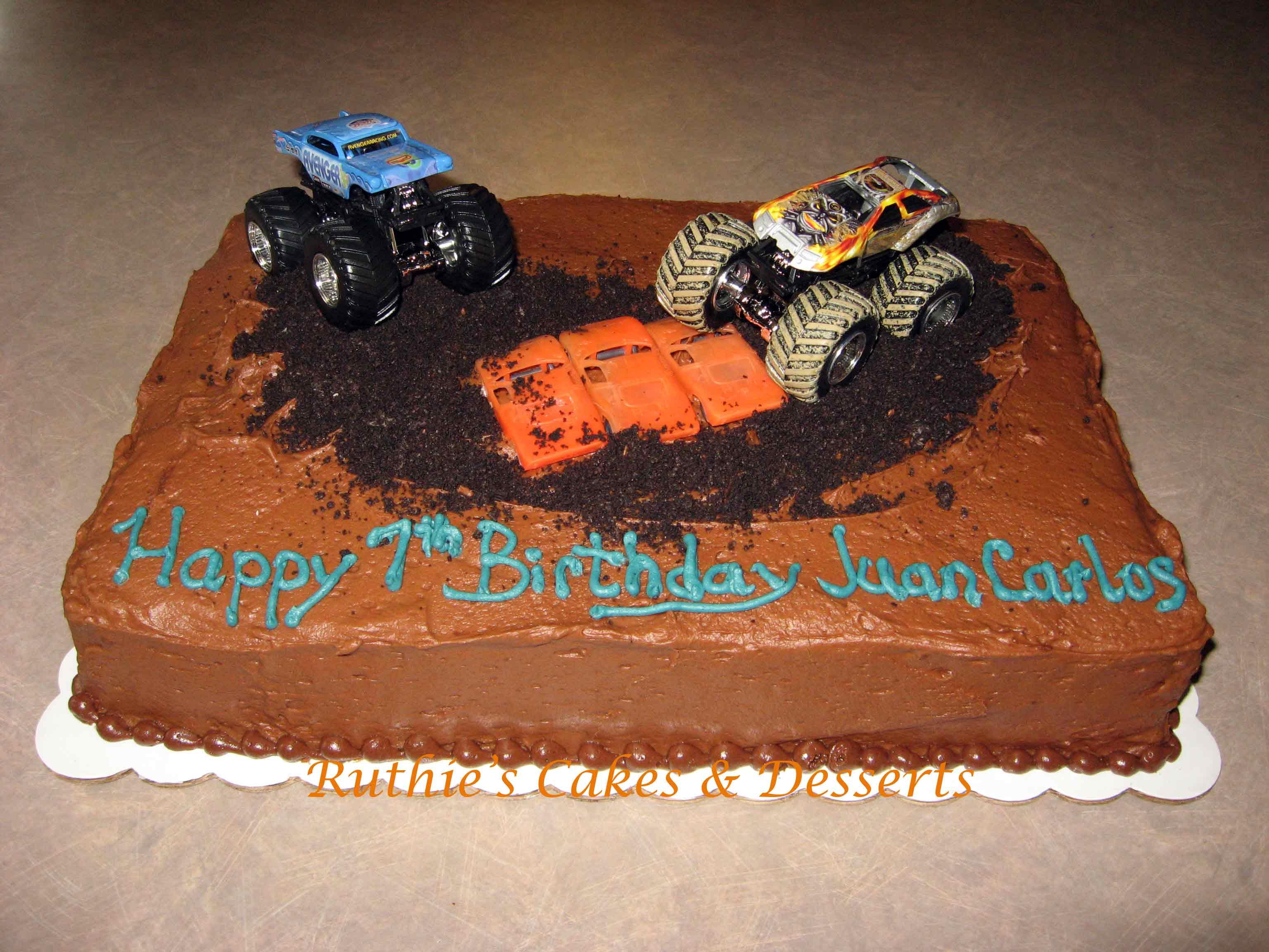 Trucks Birthday Cakes
