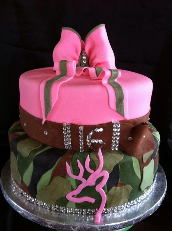 Camo Crazy 26 Stunning Sassy Sweet 16 Birthday Cakes