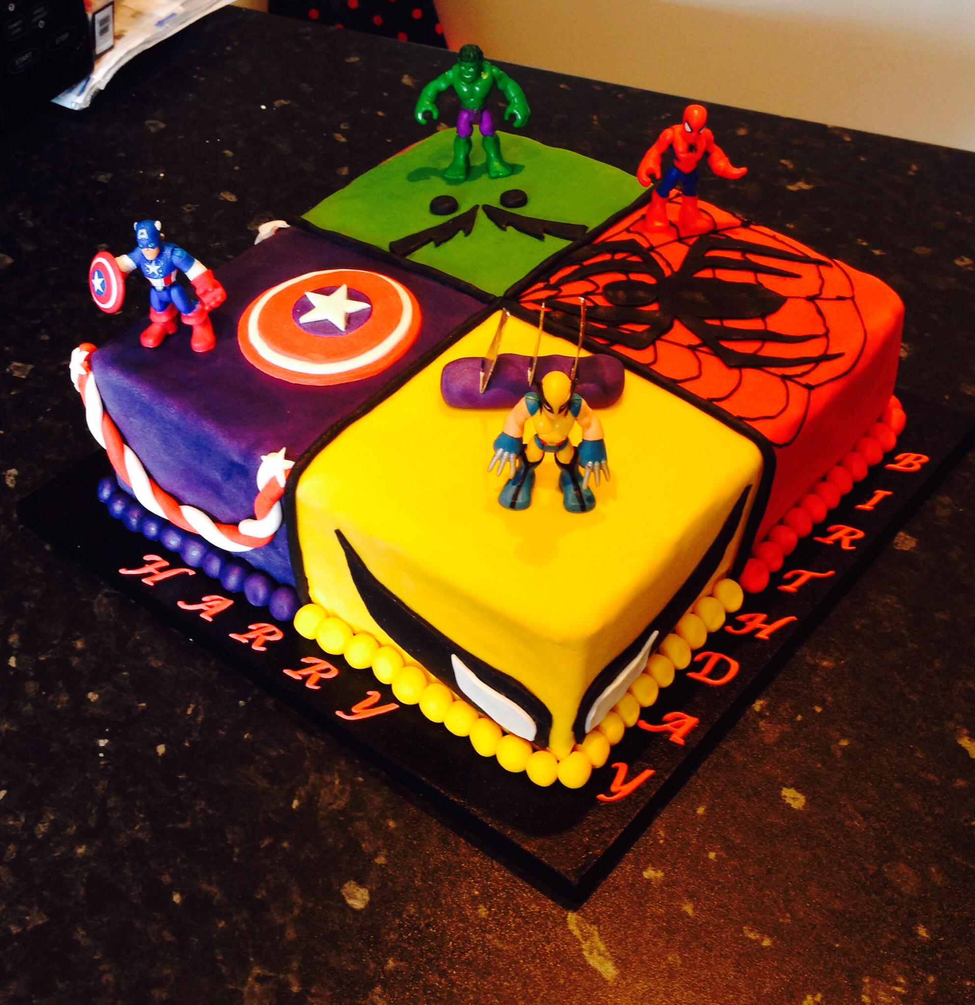 Marvel Birthday Cakes