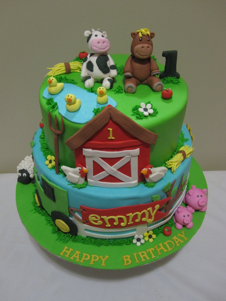Farm Birthday Cakes