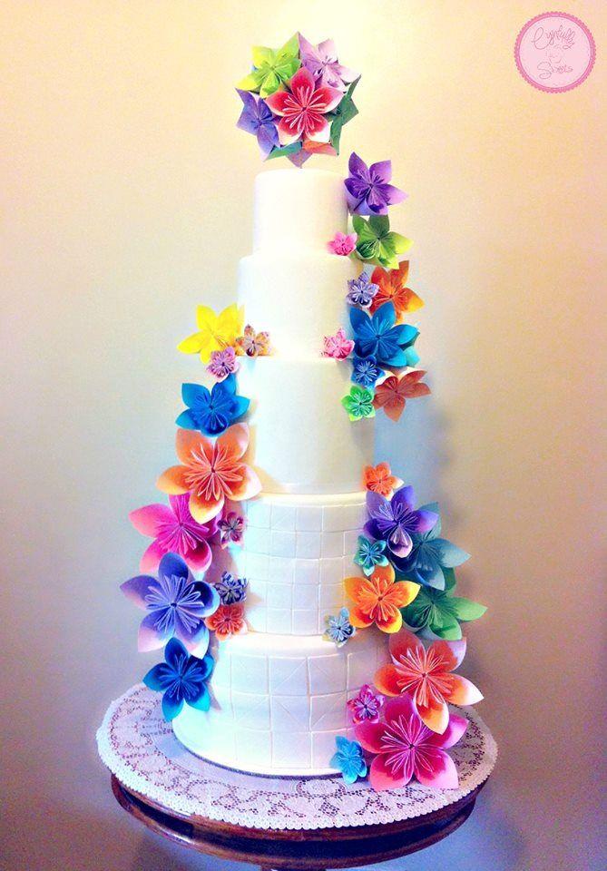 Origami wedding cakes mightylinksfo