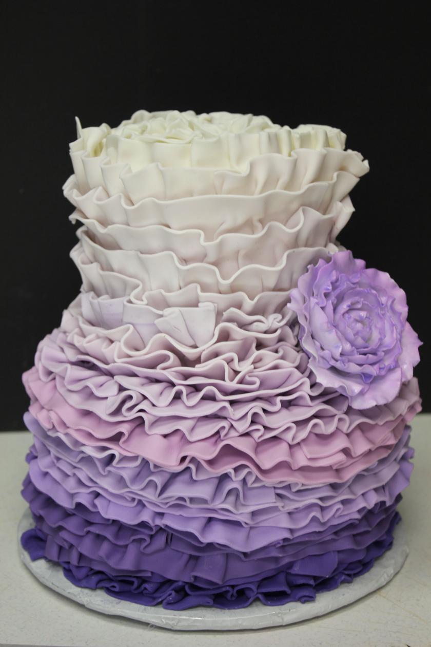 Ruffle Birthday Cakes