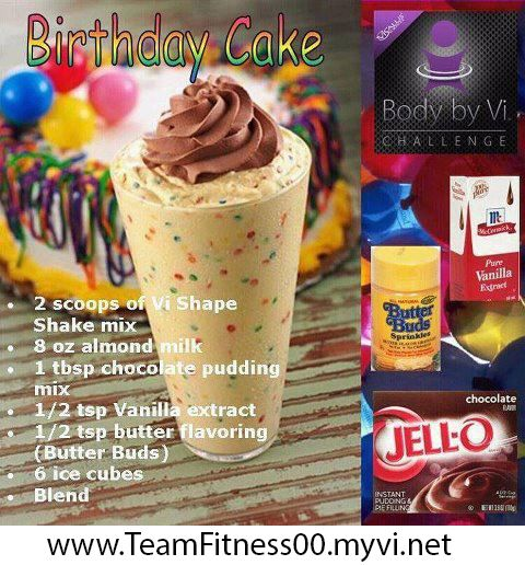 Birthday Cake Herbalife Shake Recipes Pinterest