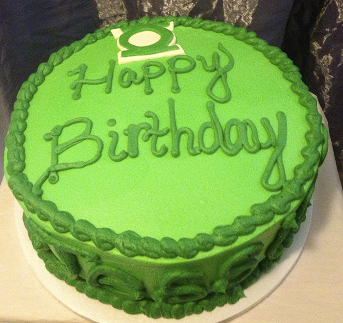 Green Birthday Cakes