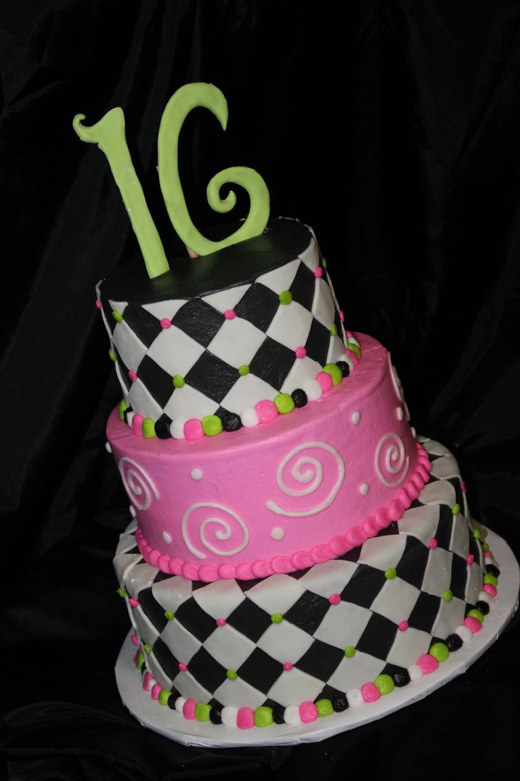 Sixteenth Birthday Cakes