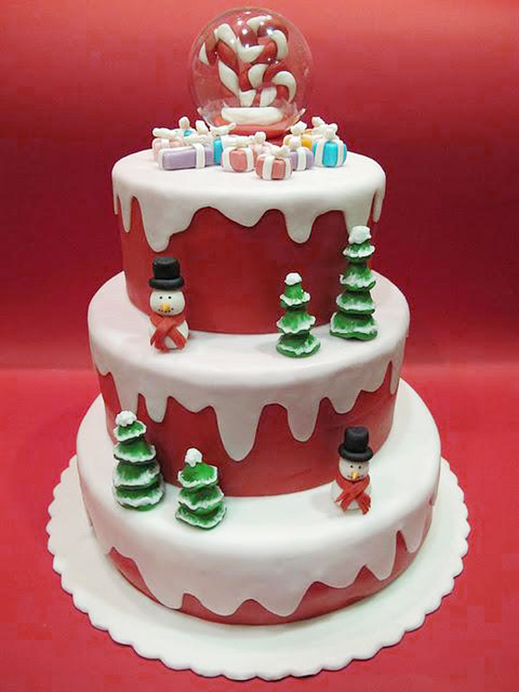 Christmas Birthday Cakes