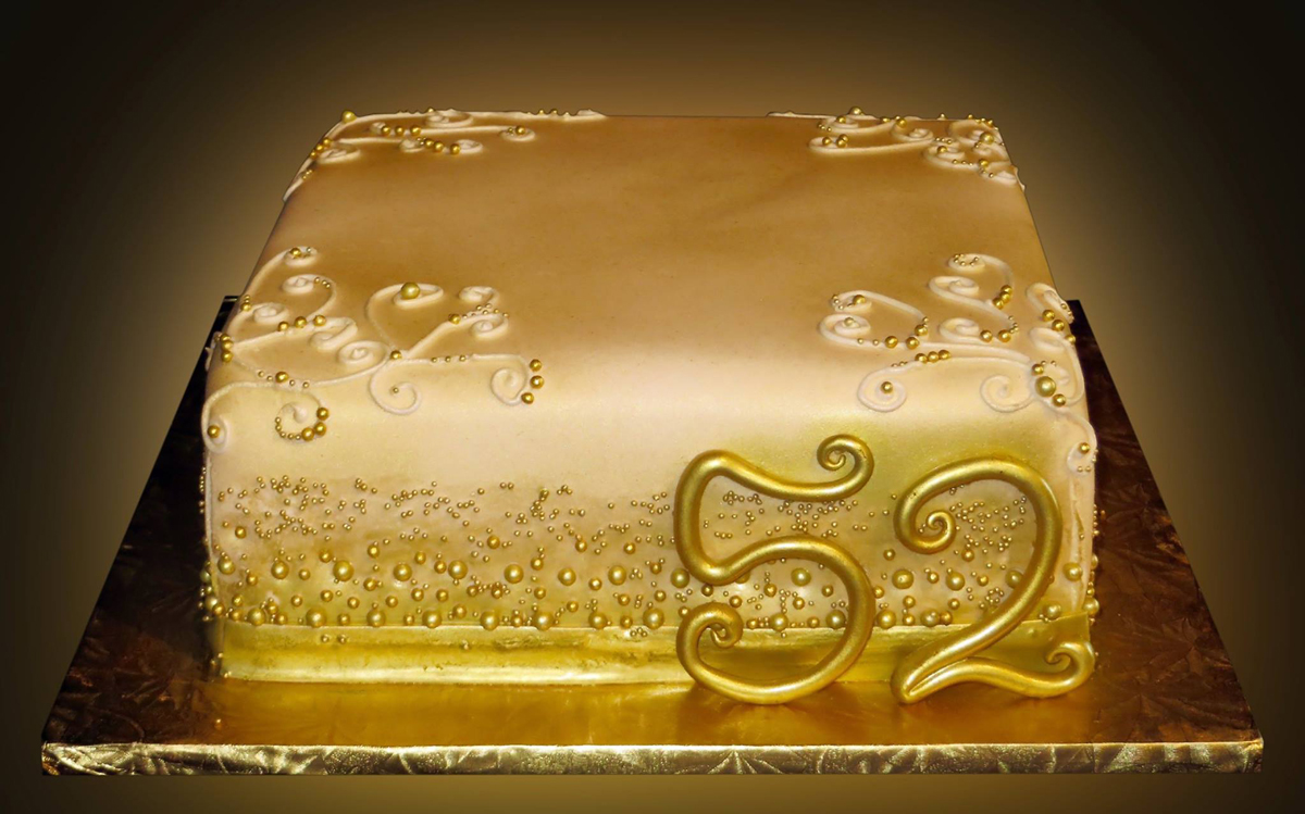 Gold Anniversary Cakes