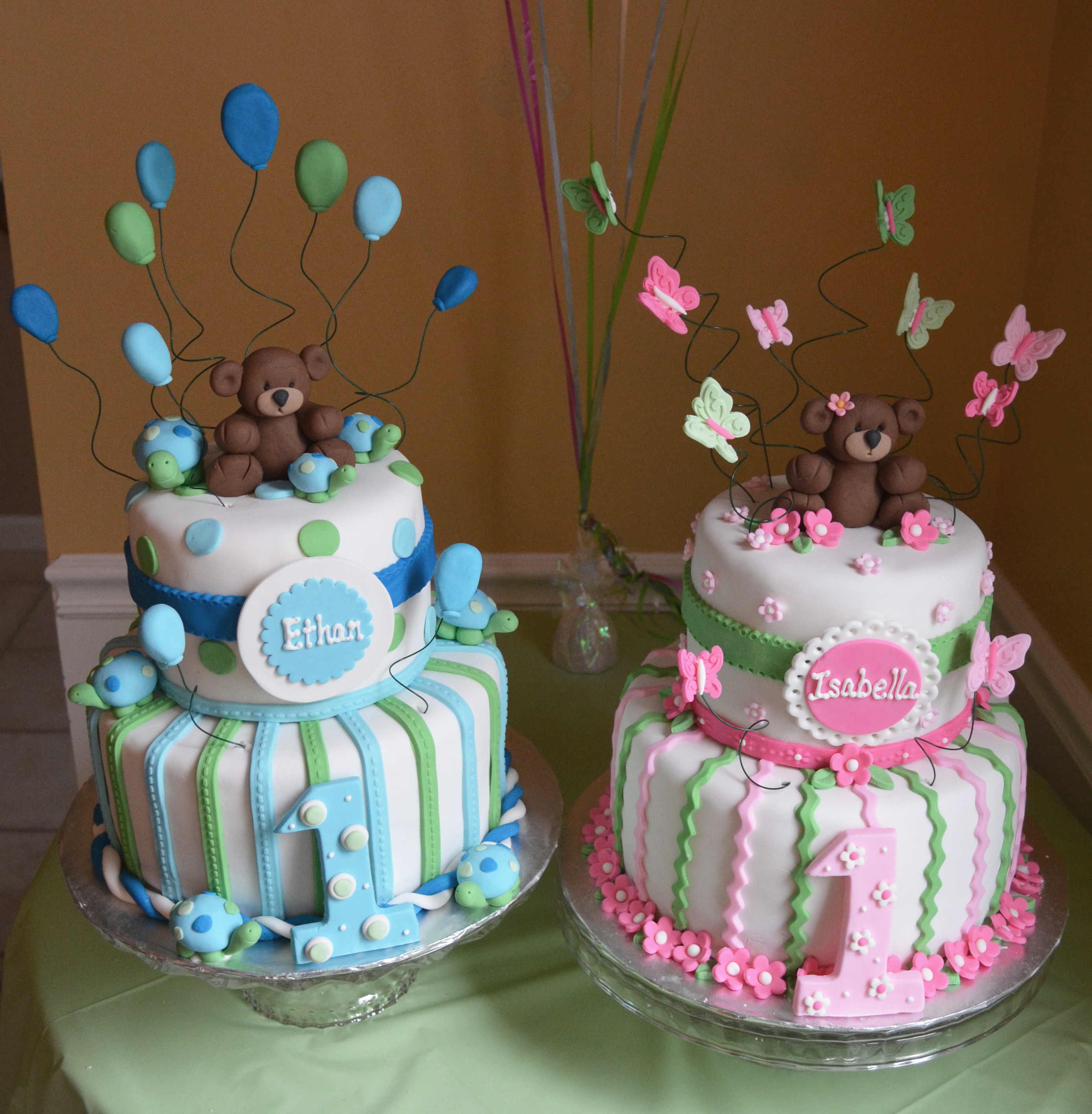 Remarkable Birthday Cake Ideas For Twin Boy And Girl The Cake Boutique Personalised Birthday Cards Paralily Jamesorg