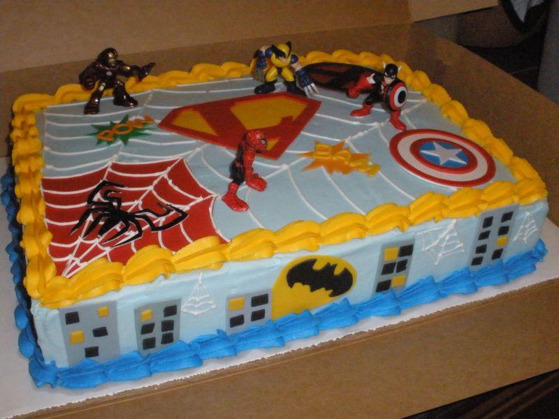 Superhero Birthday Cakes