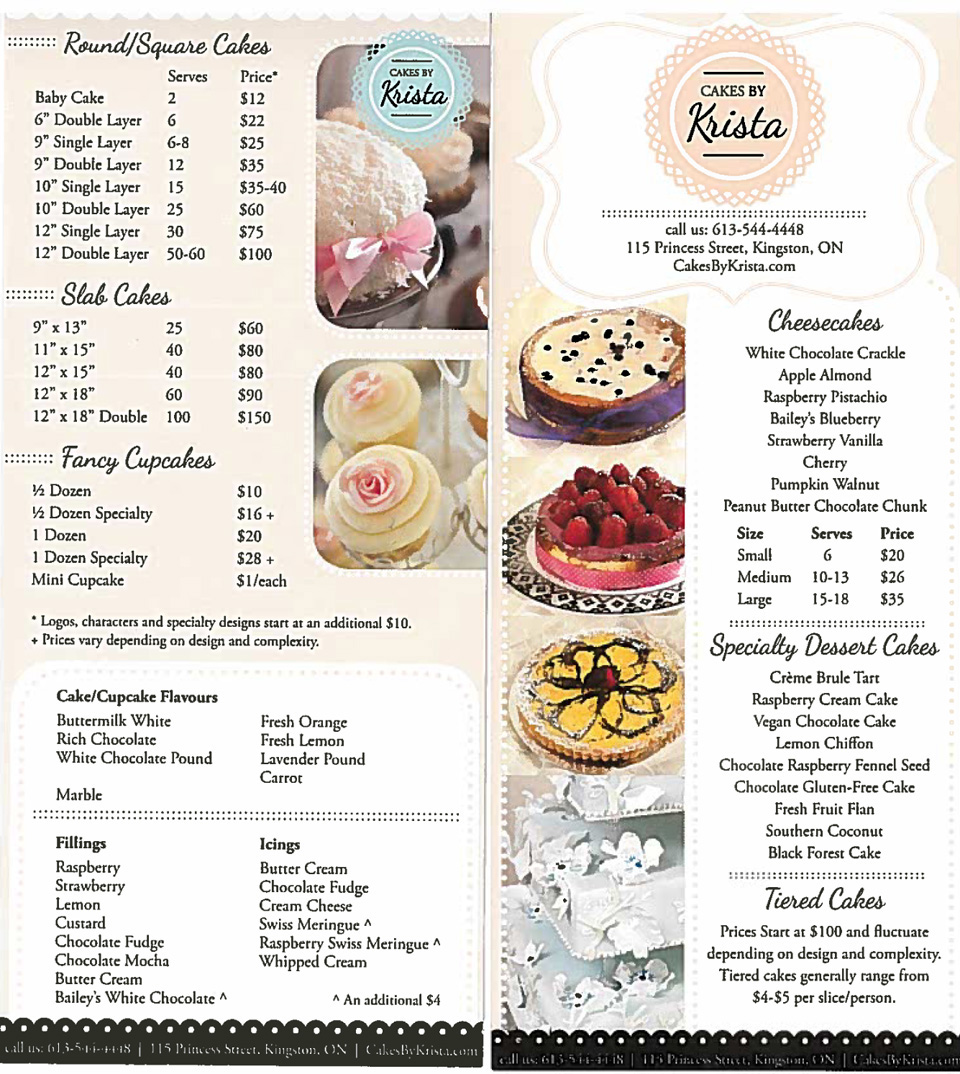 Price Wedding Cakes